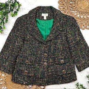 Ann Taylor LOFT Wool Blend Cropped Blazer